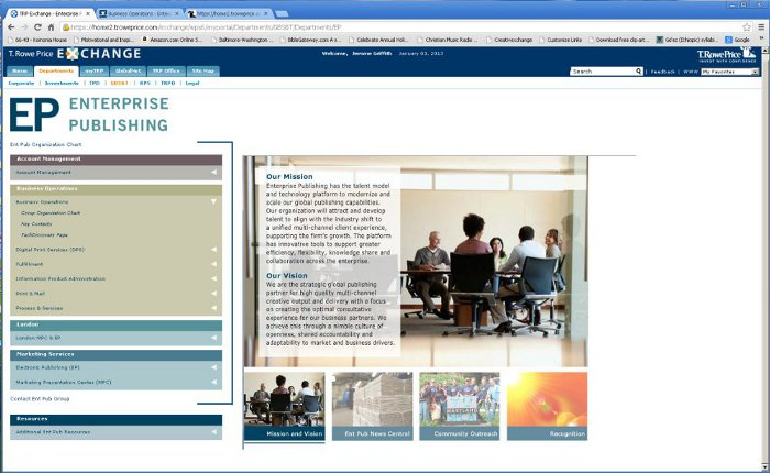 Enterprise Publishing Intranet Project